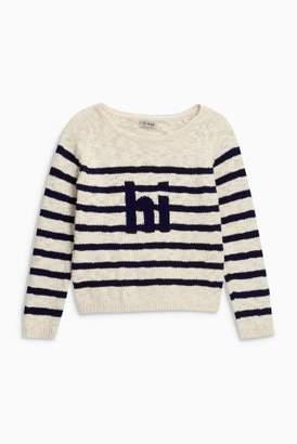 Next Girls Navy/White Breton Stripe Sweater (3-16yrs)