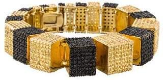 Eddie Borgo Pavé Crystal Tiered Cube Bracelet