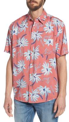 Faherty Hawaiian Print Sport Shirt