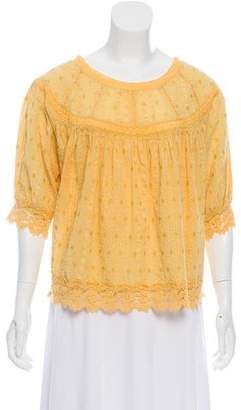 LoveShackFancy Embroidered Crocheted Top w/ Tags