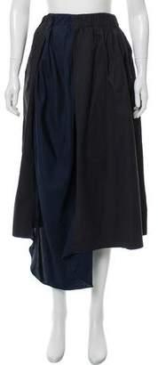 Acne Studios Pleated Midi Skirt