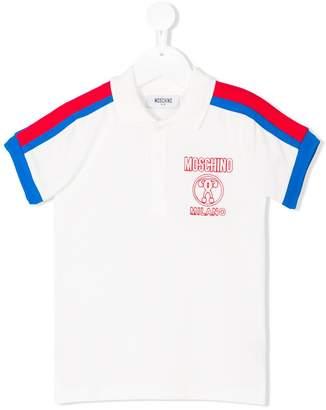 Moschino Kids stripe detail polo shirt