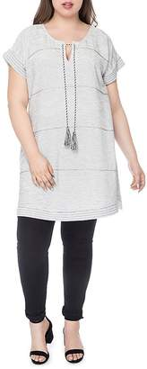 B Collection by Bobeau Curvy Bethie Beaded Tunic