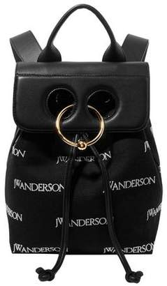 J.W.Anderson Pierce Embroidered Canvas And Leather Backpack