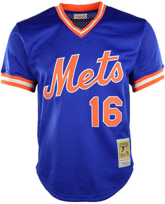 Mitchell   Ness Men Dwight Gooden New York Mets Authentic Mesh Batting  Practice V-Neck 3eb11142a