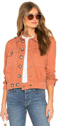 Free People Denim Slouchy Eisenhower Jacket.