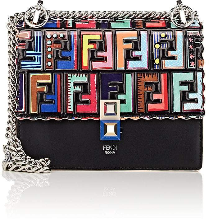 Fendi Women's Kan I Mini Leather Shoulder Bag