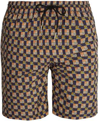 Burberry Archive logo and Vintage check-print swim shorts