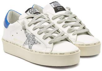 Golden Goose Hi Star Leather Platform Sneakers