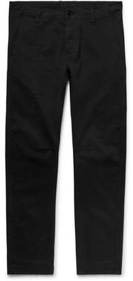 Aspesi Garment-Dyed Stretch-Cotton Twill Trousers