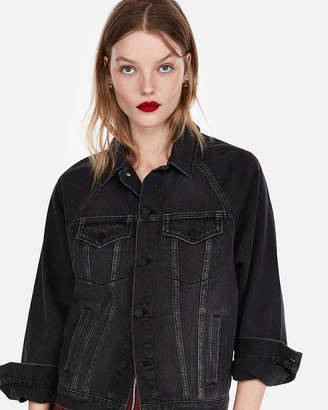 Express Black Oversized Denim Jacket
