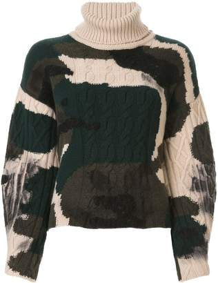 Lamberto Losani colour block roll-neck sweater