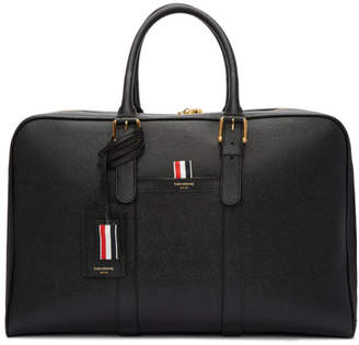 Thom Browne Black Medium Holdall Briefcase