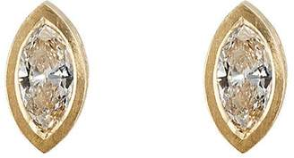 Malcolm Betts Women's Marquise-Shaped White Diamond Stud Earrings
