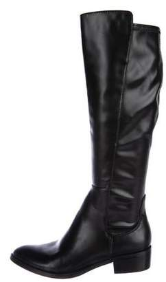 Donald J Pliner Leather Round-Toe Knee-High Boots