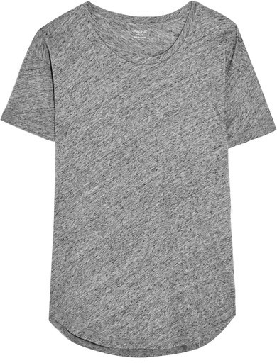 Madewell - Whisper Slub Cotton-jersey T-shirt - Gray