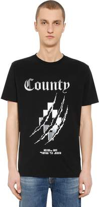 Marcelo Burlon County of Milan County Cross Cotton Jersey T-Shirt