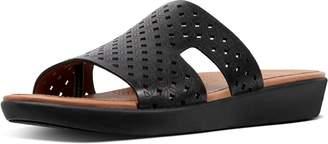 FitFlop H-Bar Latticed Leather Slides