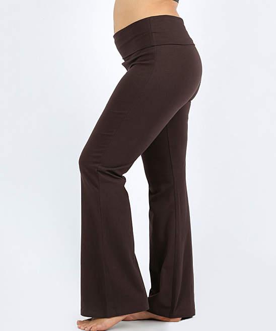 Americano Fold-Over Yoga Pants - Plus