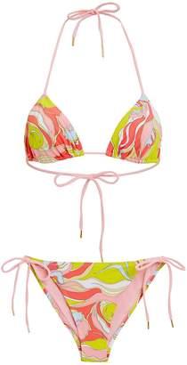 Emilio Pucci Rivera String Bikini Set