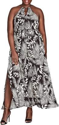 City Chic Palm Play Maxi Dress