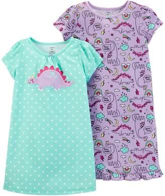 Carter's Girls 4-14 2-pack Dorm Nightgowns