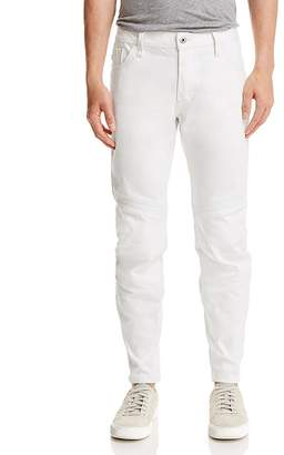 G Star Motac Deconstructed 3D Cropped Slim Fit Jeans in White