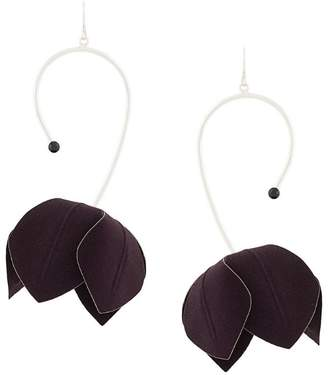Marni asymmetric flower earrings