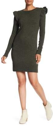 Club Monaco Evern Ruffle Shoulder Sweater Dress