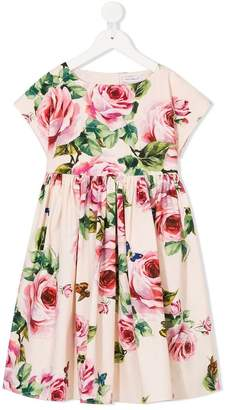 Dolce & Gabbana rose patterned dress