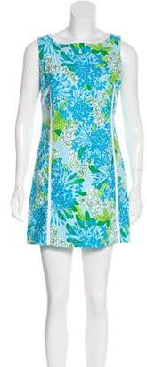 Lilly Pulitzer Floral Print Mini Dress