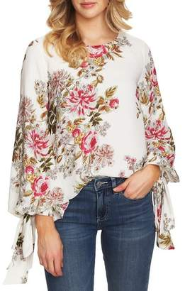 Vince Camuto Tie Cuff Bubble Sleeve Top