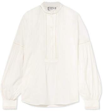 Paul & Joe Lace-trimmed Cotton-voile Blouse
