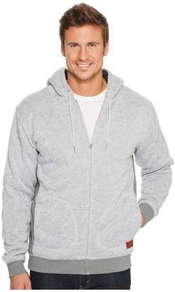 Quiksilver Keller Sherpa Lined Polar Fleece Zip Hoodie Men's Sweatshirt