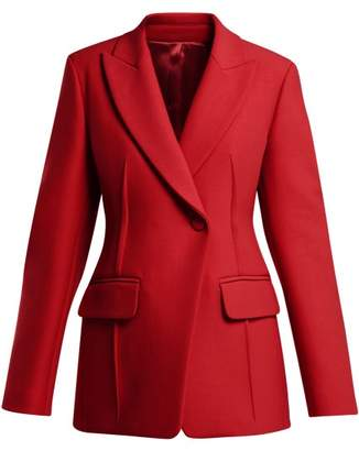 Joseph Sampson Single Breasted Wool Twill Blazer - Womens - Red
