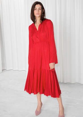And other stories Midi Tie Neck Dress