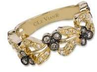 LeVian 14K Honey Gold Vanilla Diamonds & Chocolate Diamonds Chocolatier Vine Ring