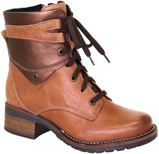 Dromedaris Leather Lace-Up Ankle boots - Kara Metallic