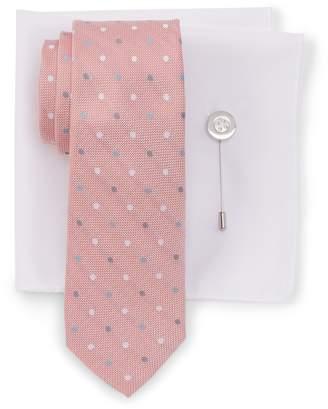 Ben Sherman Taylor Dot Tie, Pocket Square, & Lapel Stick Pin Set