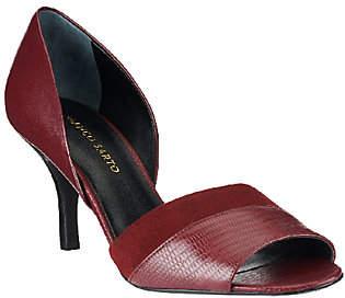 Franco Sarto Leather d'Orsay Peep Toe Pumps- India