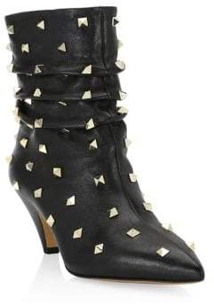 Valentino Studded Leather Booties