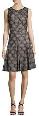 ZAC Zac Posen Cake Fit and Flare Cocktail Dress, Black $690 thestylecure.com