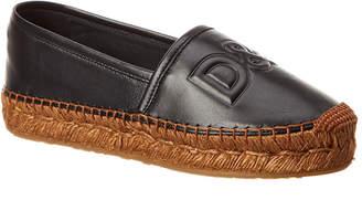 Dolce & Gabbana Logo Leather Espadrille