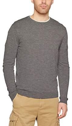 Benetton Men's's Sweater L/s Sweatshirt Grey 507, X-Large