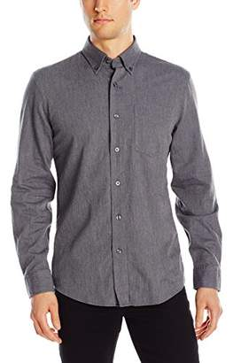 Jack Spade Men's Palmer Heathered Herringbone Button Down Shirt