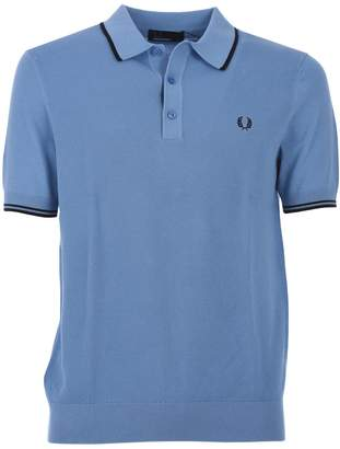 Fred Perry Light Blue Tipped Knitted Shirt