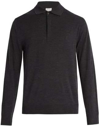 Paul Smith Long-sleeved fine-knit wool polo shirt