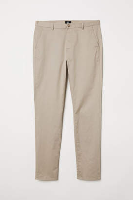 H&M Slim Fit Cotton Chinos - Beige