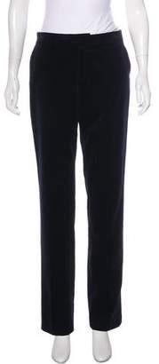Ralph Lauren Black Label Mid-Rise Velvet Pants