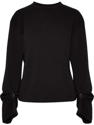 3.1 Phillip Lim - Embellished Cotton-jersey Top - Black